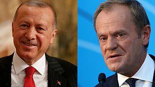 Cumhurbaşkanı Recep Tayyip Erdoğan / AB Komisyonu Başkanı Donald Tusk