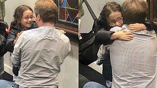 Richard Ratcliffe und seine Tochter Gabrielle am 10. Oktober 2019 - wieder vereint.