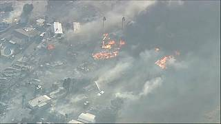 Docenas de casas arrasadas por el fuego en California