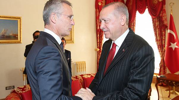 Cumhurbaşkanı Recep Tayyip Erdoğan, Cumhurbaşkanlığı Dolmabahçe Ofisi'nde NATO Genel Sekreteri Jens Stoltenberg'i kabul etti
