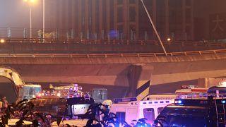 Обрушение моста в китайском городе