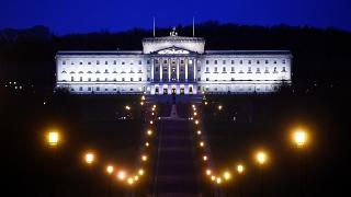 Parliament buildings known as Stormont in Belfast, Northern Ireland, UK