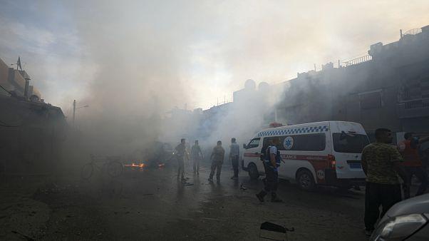 Kamışlı'da bomba yüklü araç patladı. En az üç kişi öldü