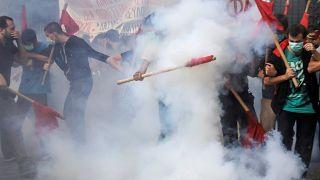 Полиция разогнала студенческую демонстрацию