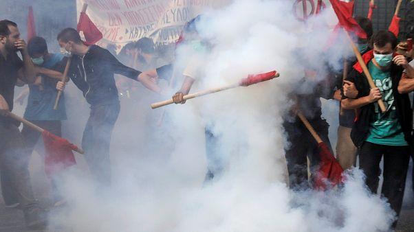 Studenten-Randale in Athen