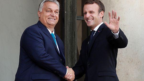Macron reçoit Orban à l'Elysée et prône l'unité de l'Europe