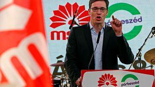 Opposition Socialist candidate Gergely Karacsony
