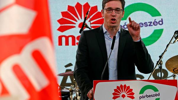 Opposition Socialist candidate Gergely Karacsony