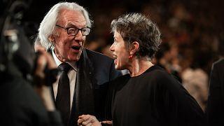 Frances McDormand et Donald Sutherland lors de la soirée d'ouverture du Festival Lumière 2019