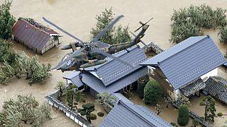 طوفان هاگیبیس در ژاپن ۱۹ کشته و دهها ناپدید برجای گذاشت