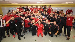 2020 Avrupa Futbol Şampiyonası (EURO 2020) Elemeleri H Grubu'nun 7. haftasında Arnavutluk'u 1-0 yendi. ( Türkiye Futbol Federasyonu - Anadolu Ajansı )
