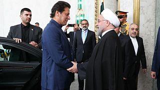 استقبال رئیس جمهوری ایران از نخست وزیر پاکستان در کاخ سعد آباد