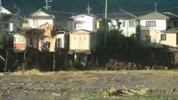 Japon : Les dégâts après le passage du Typhon Hagibis