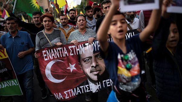 Ξεσηκωμός των Κούρδων κατά της τουρκικής επέμβασης στη Συρία