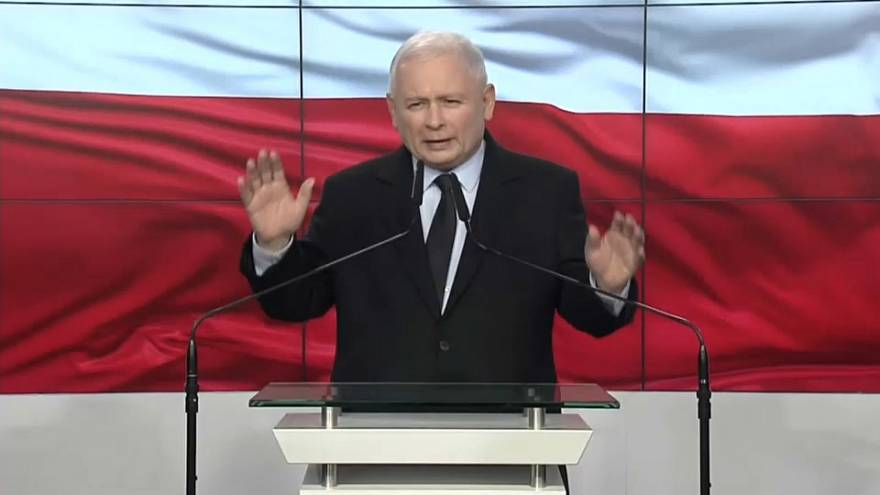 Pologne : le parti nationaliste au pouvoir, le parti Droit et Justice, remporterait la victoire