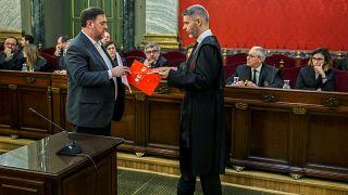 Penas pesadas para independentistas catalães