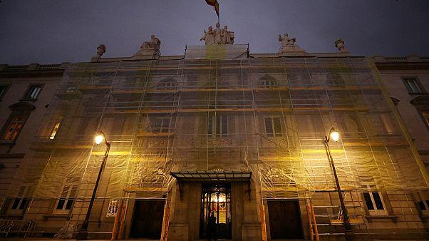 Spaniens Oberster Gerichtshof am Morgen des Urteils