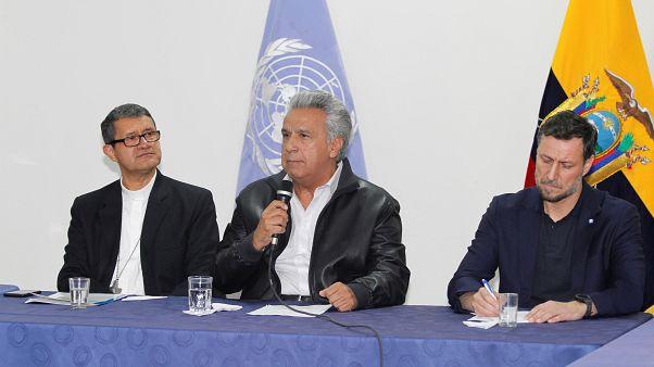 Moreno e indígenas chegam a acordo para sair da crise
