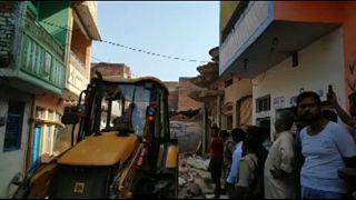 Halálos házomlás Indiában