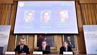 Le Nobel d'économie décerné à la Franco-Américaine Esther Duflo et aux Américains Banerjee et Kremer