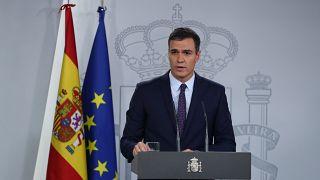 Presidente del Gobierno espaol en funciones, Pedro Sánchez, el 14 de octubre de 2019.