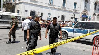 عناصر أمنية وسط العاصمة تونس - يونيو/حزيران 2019.