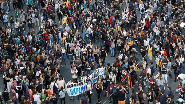 В Каталонии прошли массовые протесты