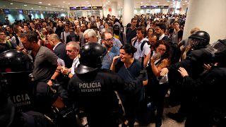 تظاهرات استقلالطلبان کاتالونیا در بارسلون به خشونت کشیده شد