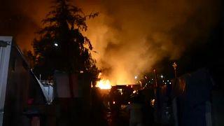 Ηρεμία στο ΚΥΤ Σάμου μετά την πυρκαγιά και τις συμπλοκές