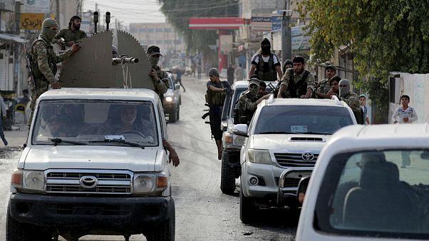 شورشیان سوری تحت حمایت ترکیه در شهر تل ابیض