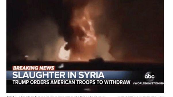 Trump'tan ABC Televizyonu'na Barış Pınarı Harekatıyla ilgili sahte görüntü tepkisi