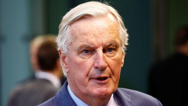 El negociador jefe de la UE en Brexit, Michel Barnier en una rueda de prensa antes de participar en el Consejo de Asuntos Generales en Luxemburgo, el 15 de octubre de 2019