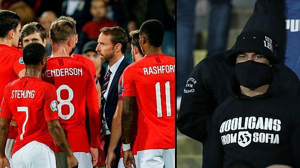 """Seleção inglesa debateu eventual abandoino do jogo na Bulgária devido aos """"hooligans"""""""