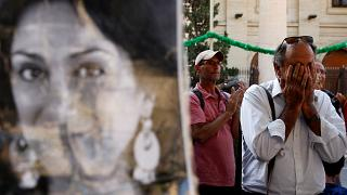 Protest and vigil marking twenty-one months since the assassination of anti-corruption journalist Daphne Caruana Galizia, in Valletta