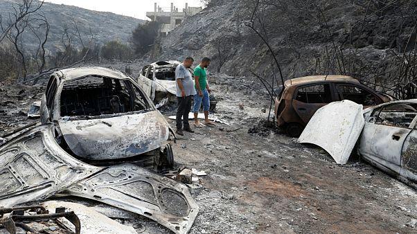 آتش سوزی در لبنان