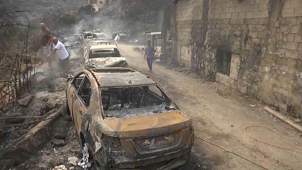 شاهد: دمار كبير تخلفه الحرائق في لبنان