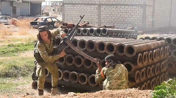 شاهد: معارك عنيفة بين القوات المدعومة تركيا والأكراد في سوريا