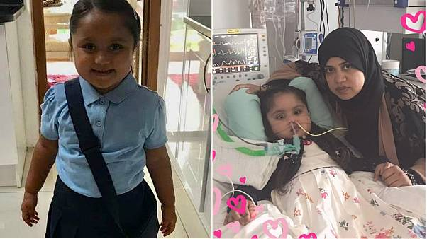 Severely brain damaged girl, 5, en route to Italy for treatment after legal battle with UK doctors