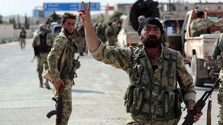 Suriye Milli Ordusu mensupları Tel Abyad'da