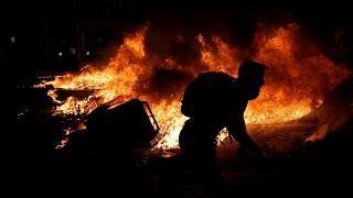 Két napja lángokban áll Katalónia