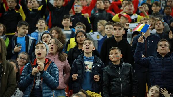 Einige der 30.000 jungen Zuschauer.
