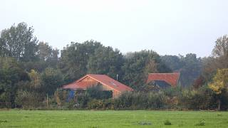 The farmhouse at the centre of police investigations in Ruinerwold, Netherlands, October 16,2019.