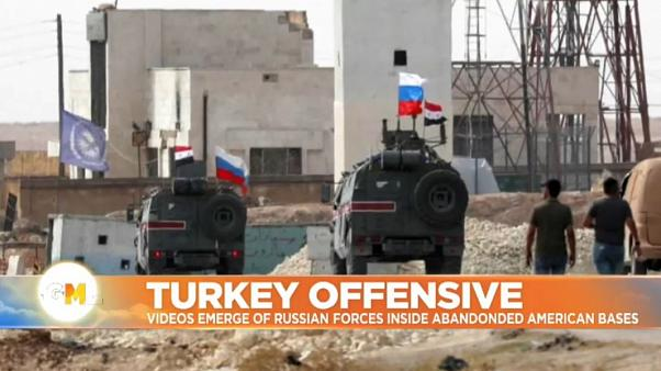 Out with the US and in with Russia: troops take over America's abandoned Syria bases