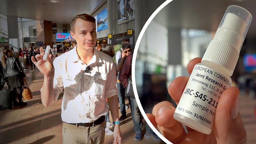 Robbanószer-spray-vel a biztonságosabb repülésért