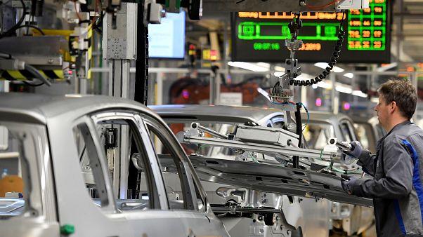 Una fábrica de producción en la planta de Volkswagen en Wolfsburg, Alemania, el 1 de marzo de 2019.