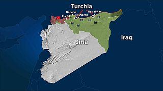 Turchia in Siria: la mappa della prima settimana dell'operazione Fonte di Pace