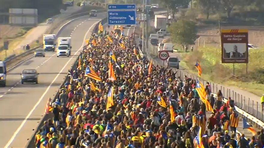 Proteste in Katalonien - Festnahmen und Verletzte