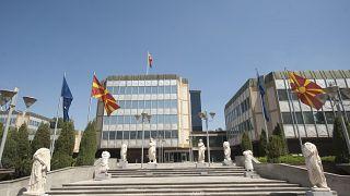 General view in Macedonian Government Building. AFP PHOTO/ROBERT ATANASOVSKI