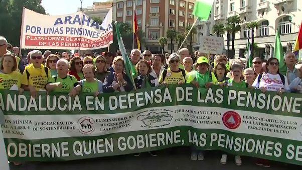 Luchan en la calle por el futuro del sistema público de pensiones