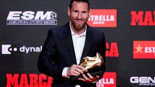 Messi reçoit son sixième Soulier d'or européen